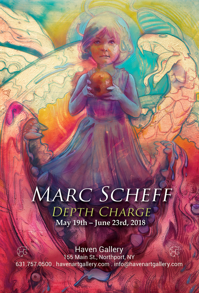 Marc Scheff solo show at haven gallery flyer
