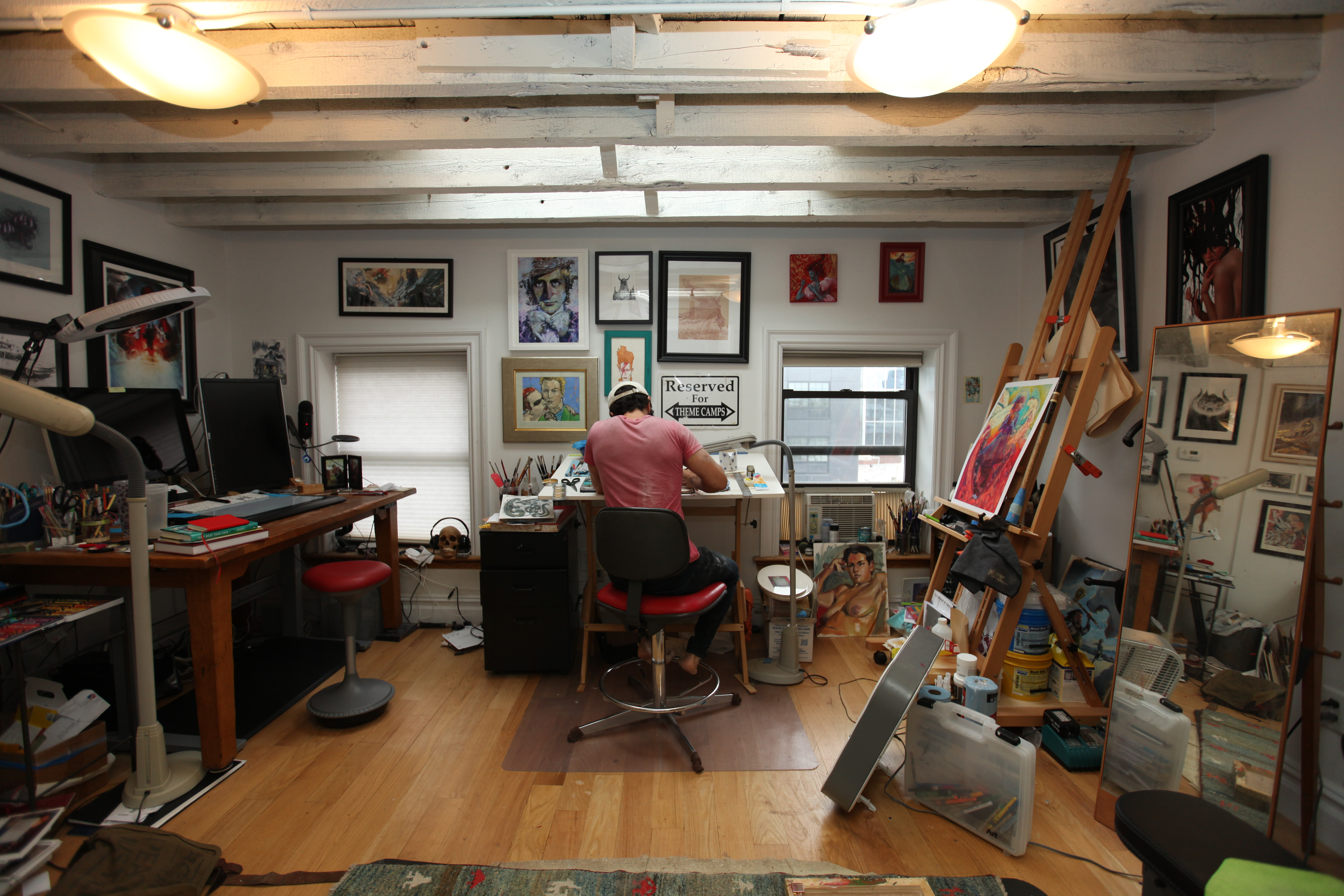 Marc Scheff in his studio