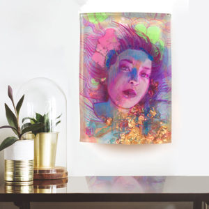 So Much Time, original resin portrait from Marc Scheff, for sale