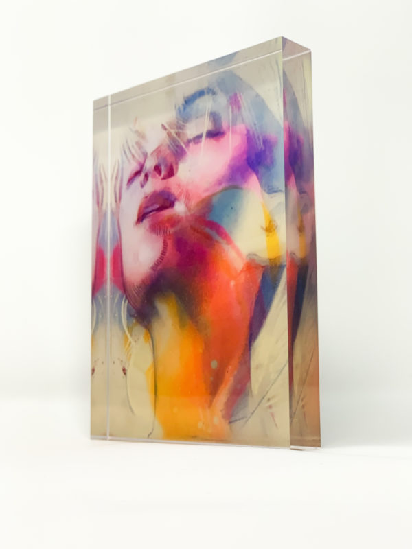 Amy, limited edition acrylic block print by Marc Scheff
