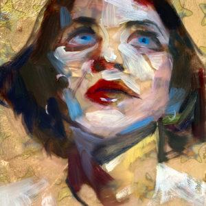 original painting of Brian Molko