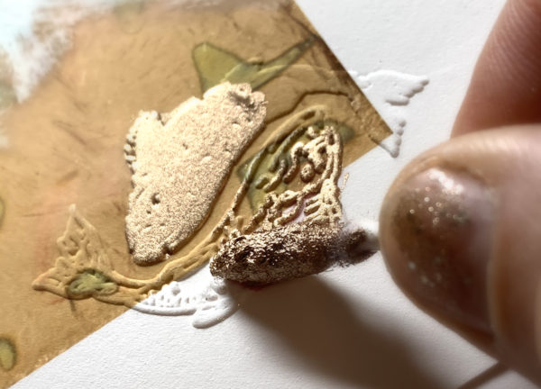gold leafing process with liquid leaf