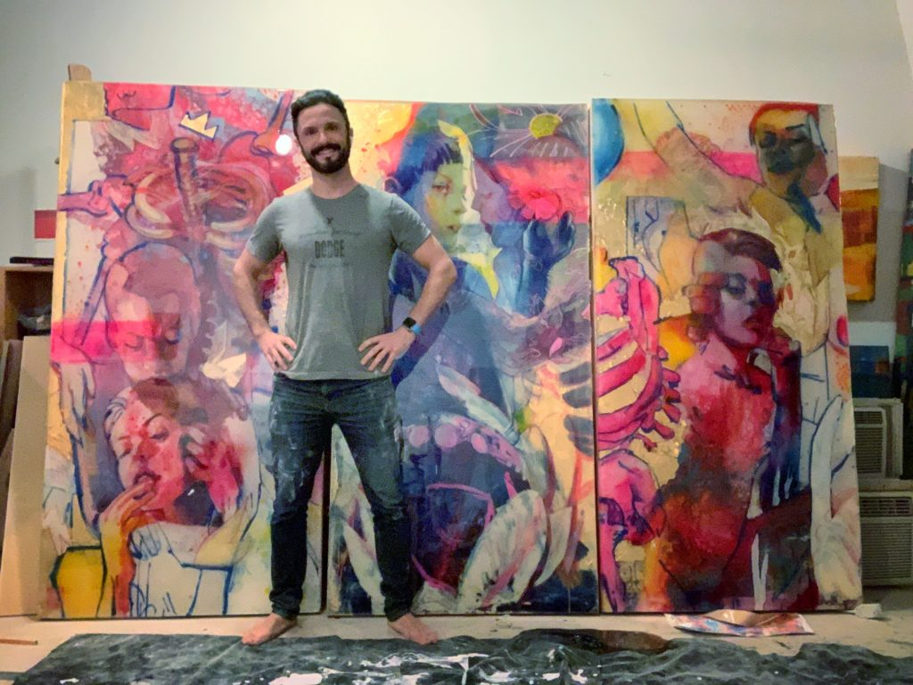 Marc Scheff in his art studio